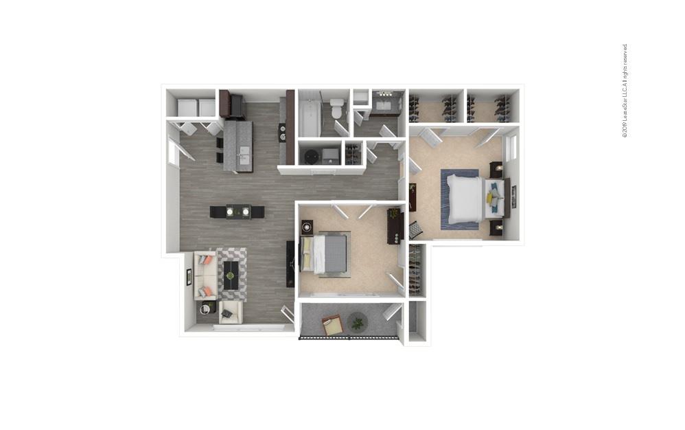 Iris 2 bedroom 1 bath 919 square feet