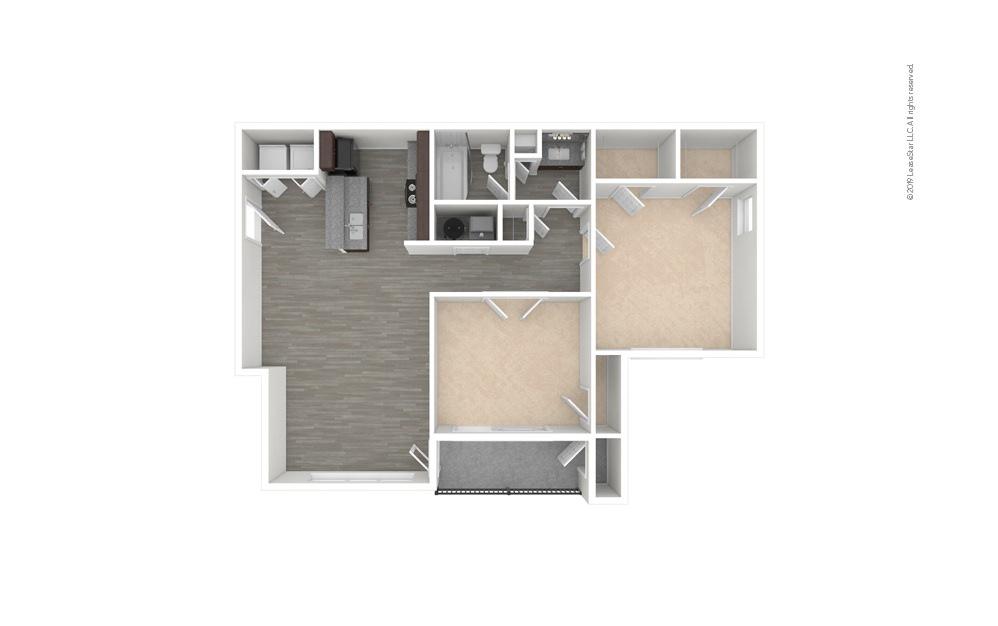 Iris 2 bedroom 1 bath 919 square feet (1)
