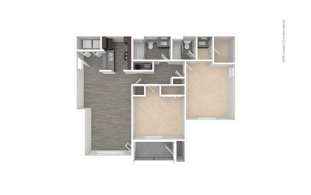 Maple 2 bedroom 2 bath 1000 square feet (1)