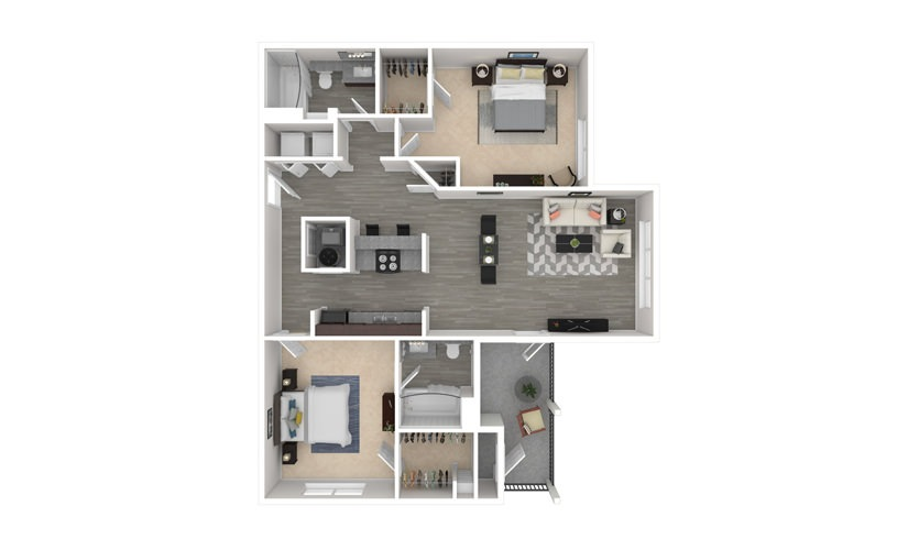 Orchid 2 bedroom 2 bath 1127 square feet
