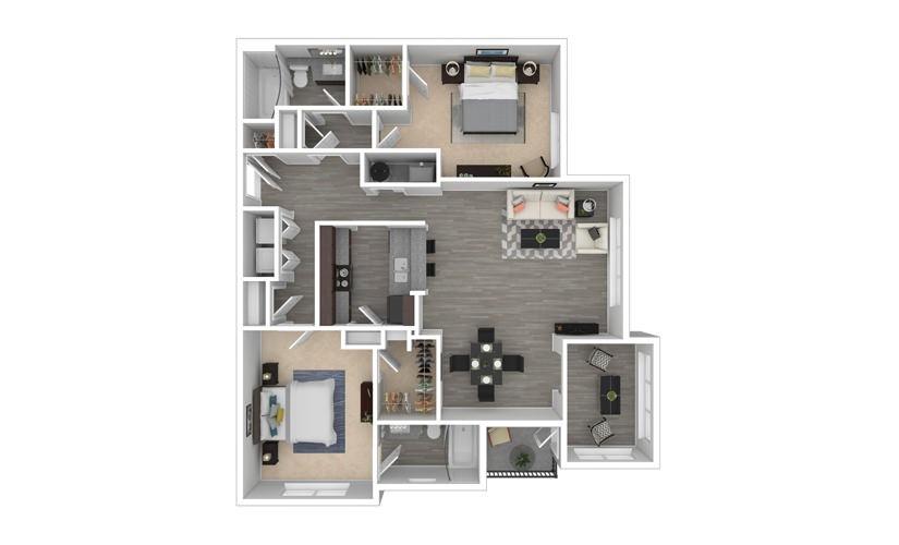 Trillium 2 bedroom 2 bath 1270 square feet