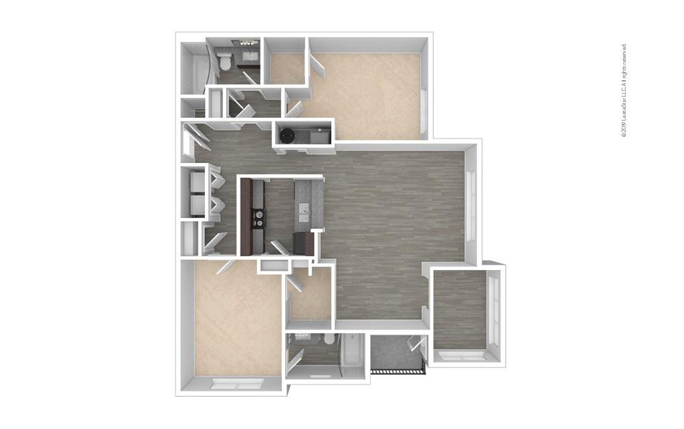 Trillium 2 bedroom 2 bath 1270 square feet (1)