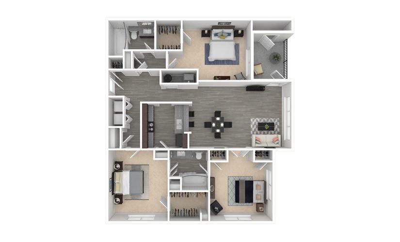 Violet 3 bedroom 2 bath 1330 square feet