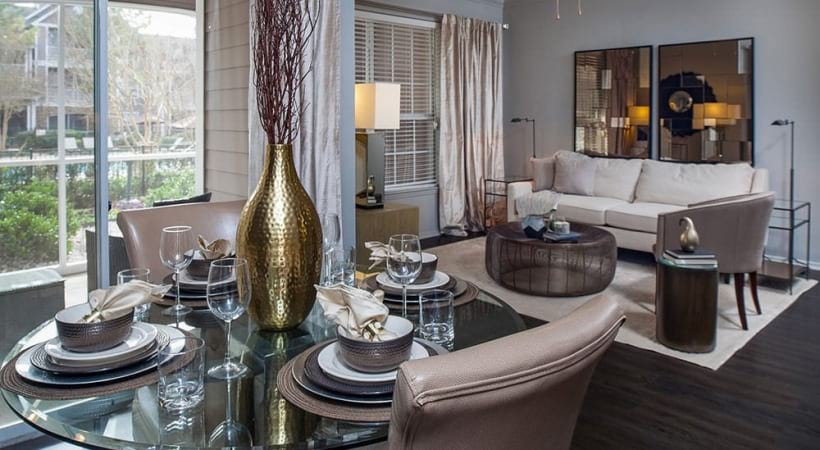 Luxury living areas at Durham apartments for rent