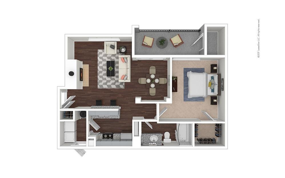A5 1 bedroom 1 bath 842 square feet