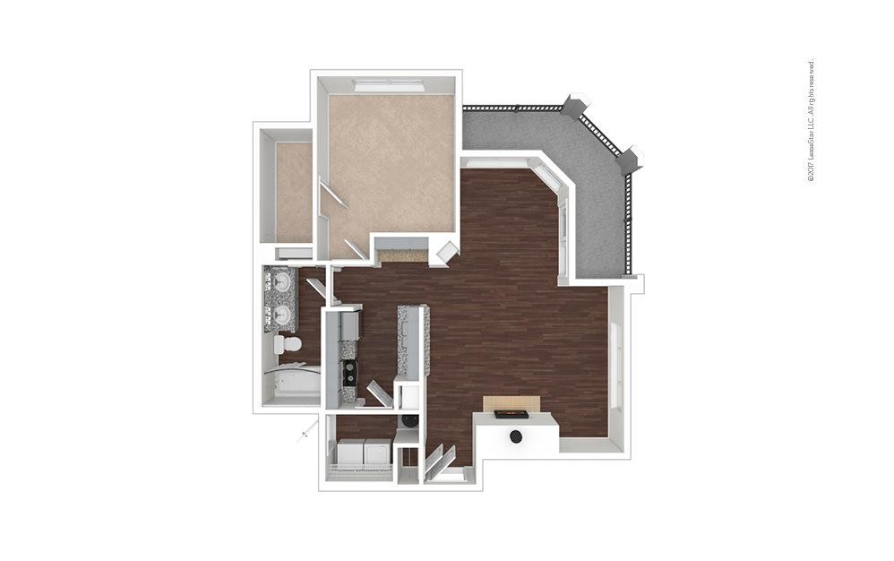 A4 1 bedroom 1 bath 840 square feet (1)