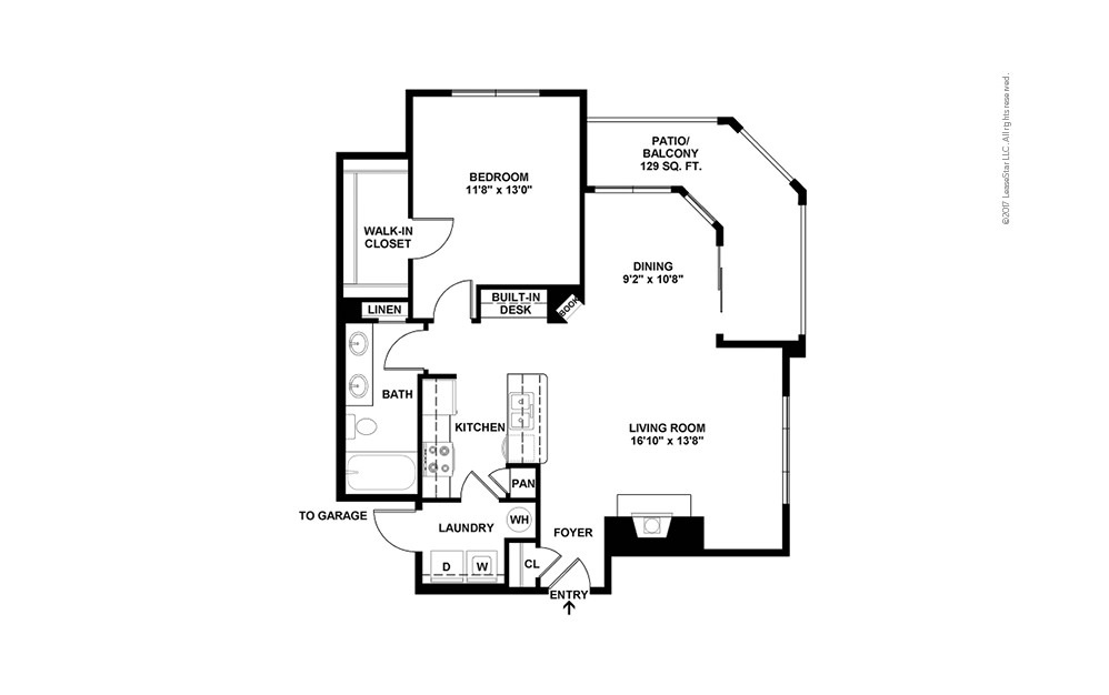 A4 1 bedroom 1 bath 840 square feet (2)