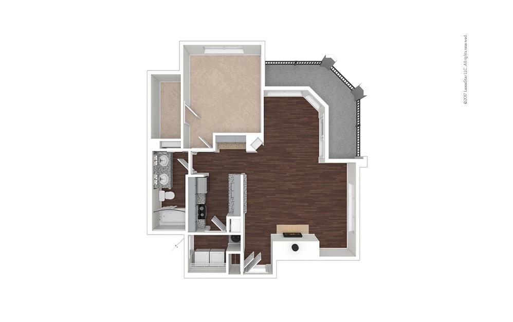 A7 1 bedroom 1 bath 939 square feet (1)