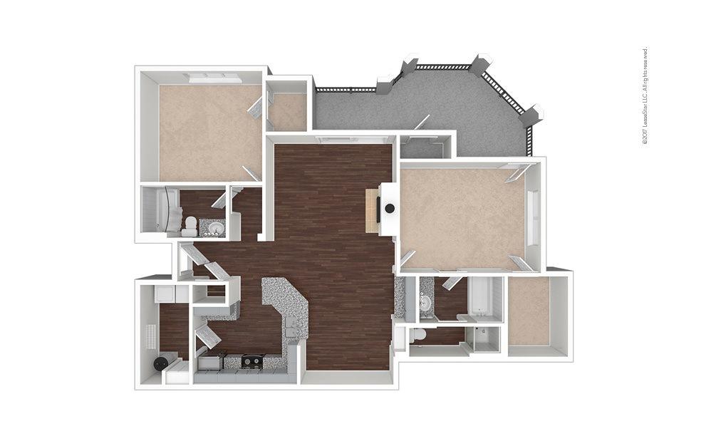 B10 2 bedroom 2 bath 1278 square feet (1)