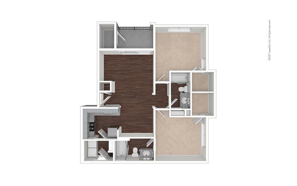 B3 2 bedroom 2 bath 955 square feet (1)
