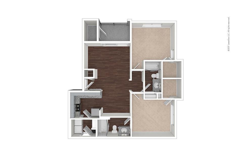 B4 2 bedroom 2 bath 1000 square feet (1)