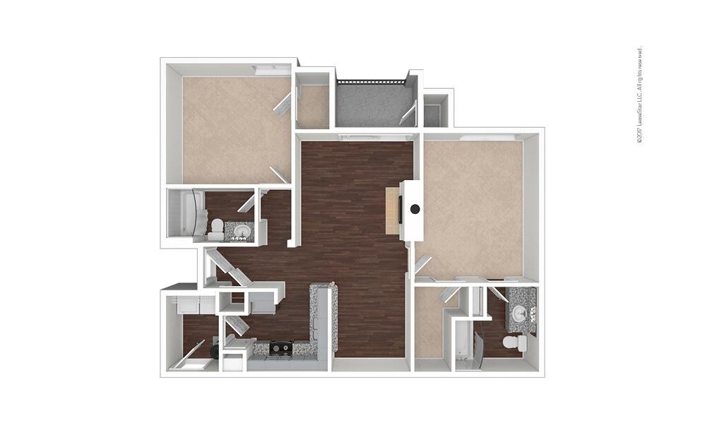 B7 2 bedroom 2 bath 1155 square feet (1)