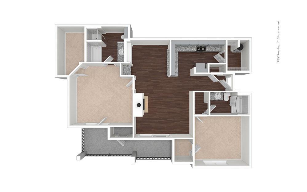 B9 2 bedroom 2 bath 1243 square feet (1)