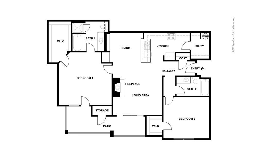 B9 2 bedroom 2 bath 1243 square feet (2)