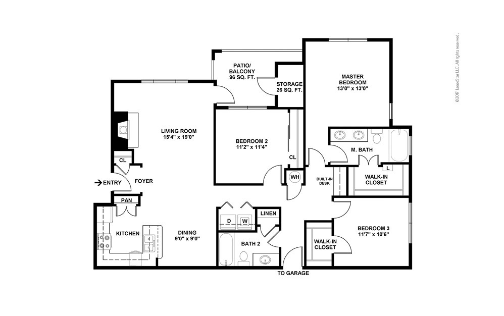 C2 3 bedroom 2 bath 1368 square feet (2)