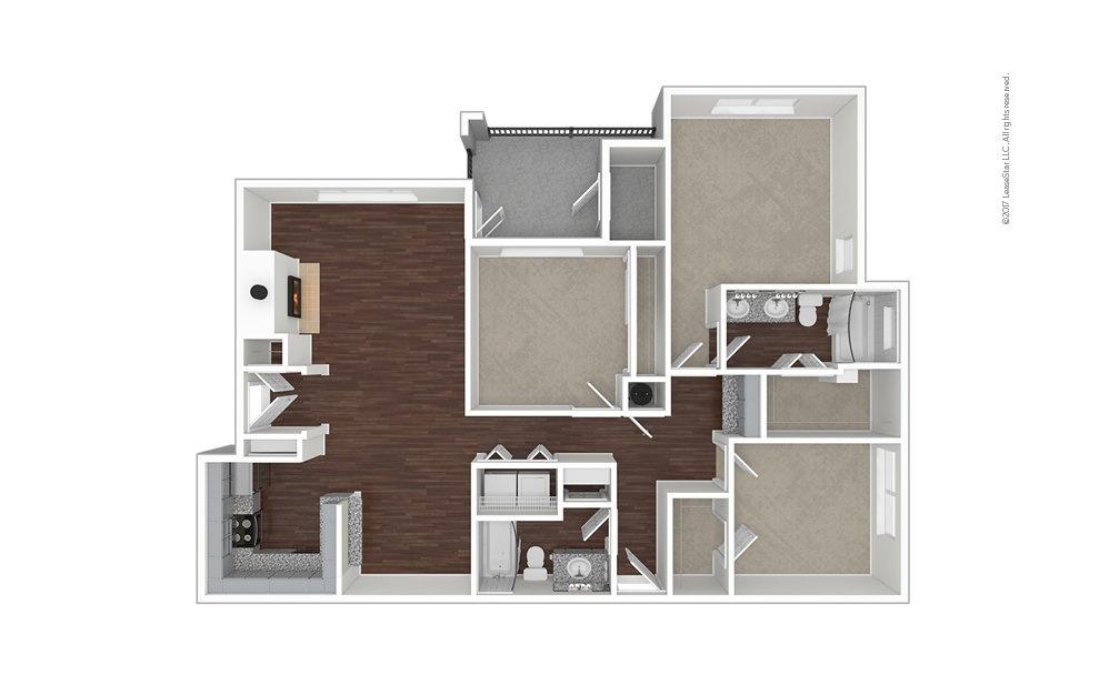 C3 3 bedroom 2 bath 1415 square feet (1)