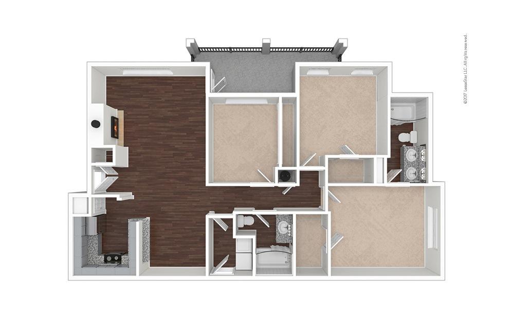 C4 3 bedroom 2 bath 1436 square feet (1)