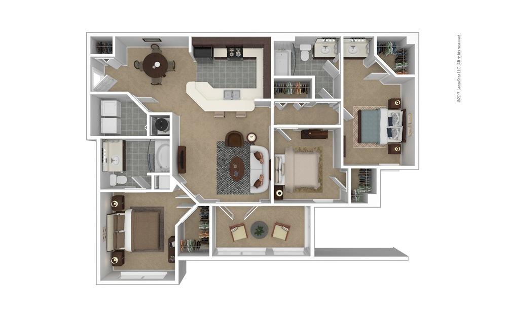 C1 The Devonshire 3 bedroom 2 bath 1315 square feet