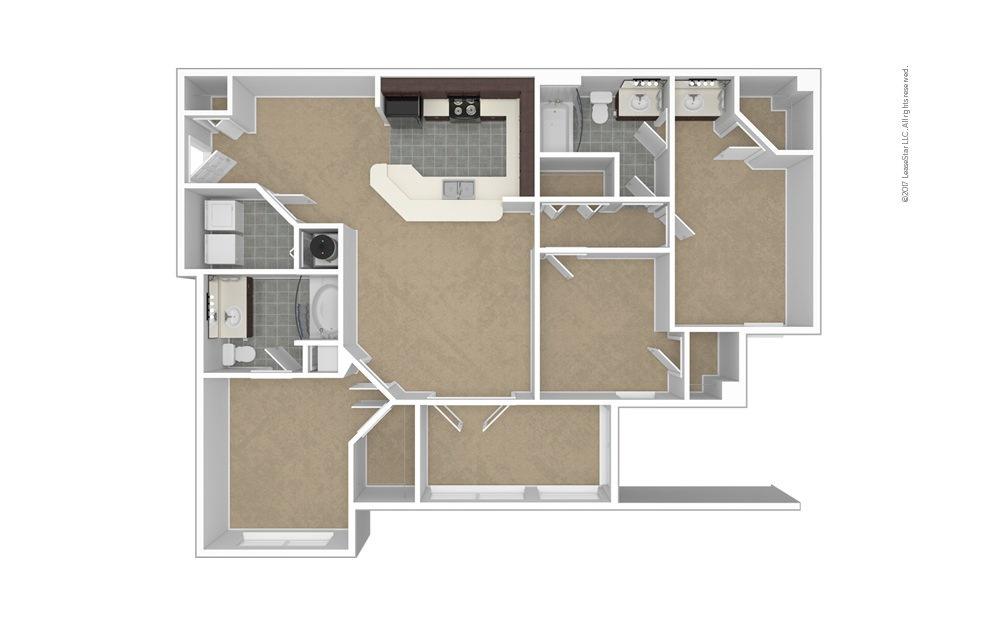 C1 The Devonshire 3 bedroom 2 bath 1315 square feet (1)