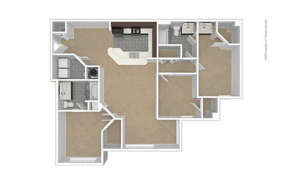 C2 The Pembroke 3 bedroom 2 bath 1434 square feet (1)