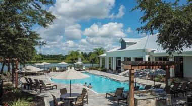 Resort-style pool at Cortland Bermuda Lake