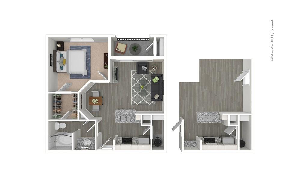 The Byron 1 bedroom 1 bath 659 square feet