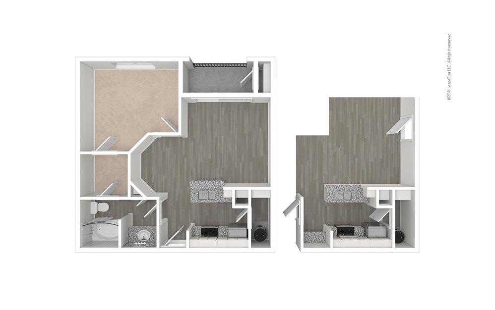 The Byron 1 bedroom 1 bath 659 square feet (1)