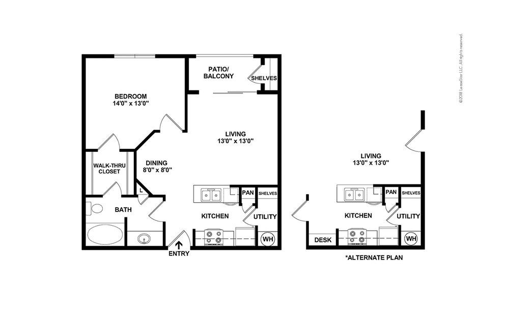 The Byron 1 bedroom 1 bath 659 square feet (2)
