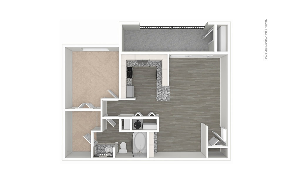 The Camino 1 bedroom 1 bath 767 square feet (1)