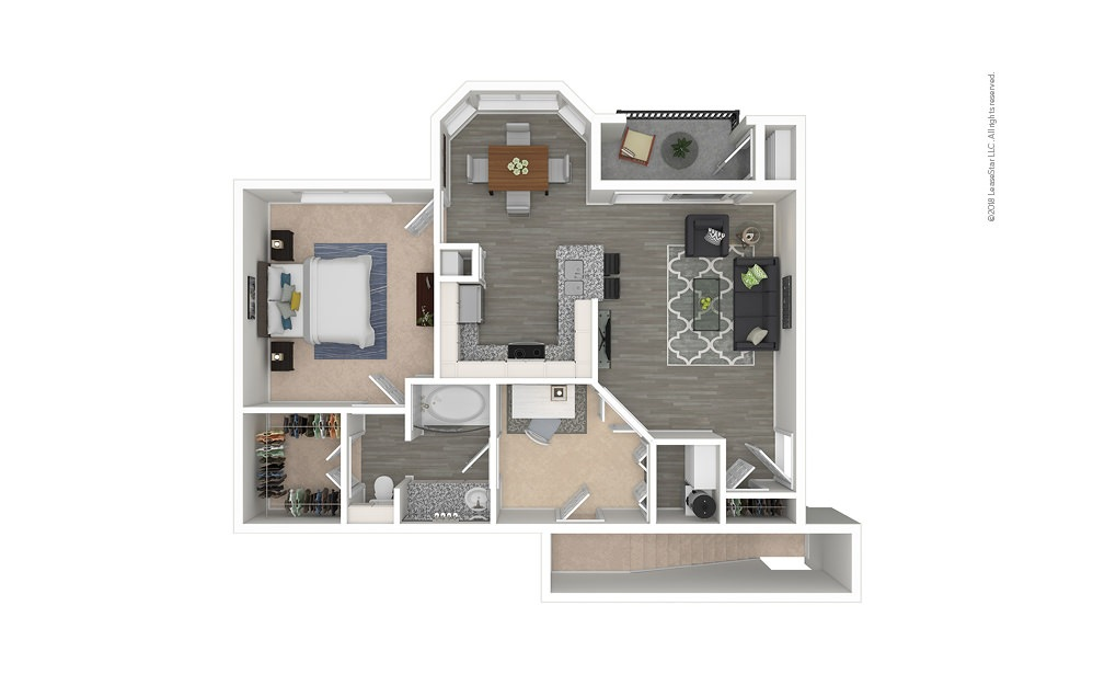 The Carpenter 1 bedroom 1 bath 829 - 939 square feet