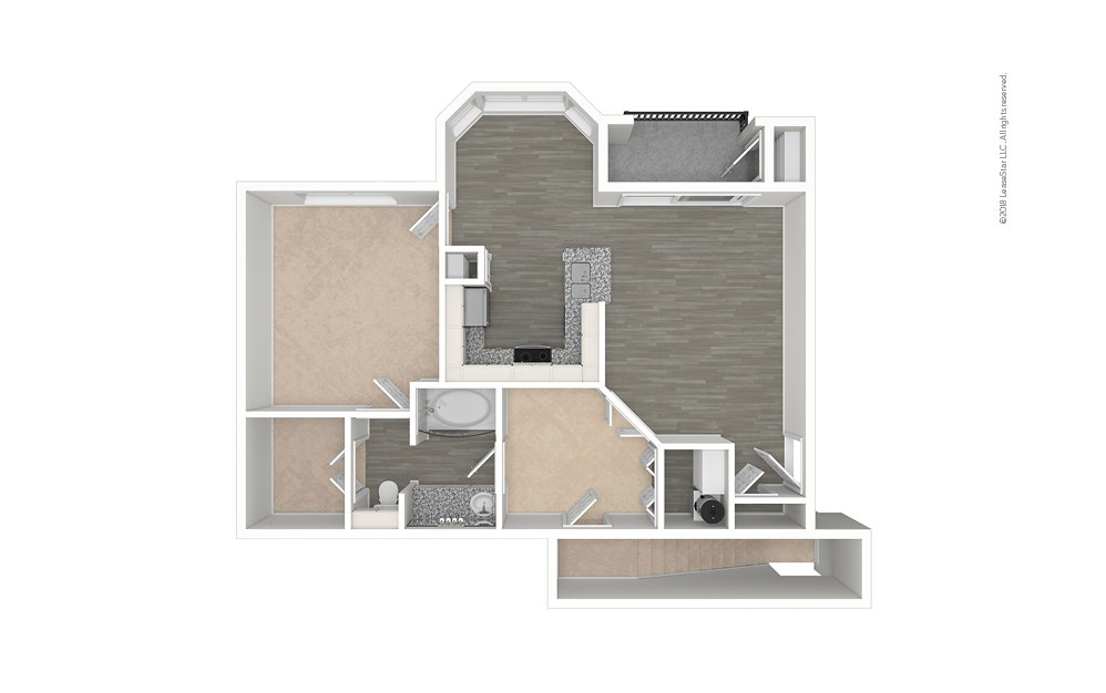 The Carpenter 1 bedroom 1 bath 829 - 939 square feet (1)