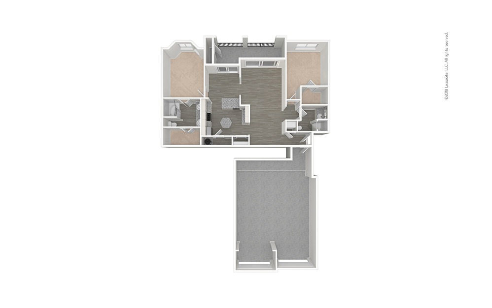The Ranch 2 bedroom 2 bath 1290 - 1367 square feet (1)
