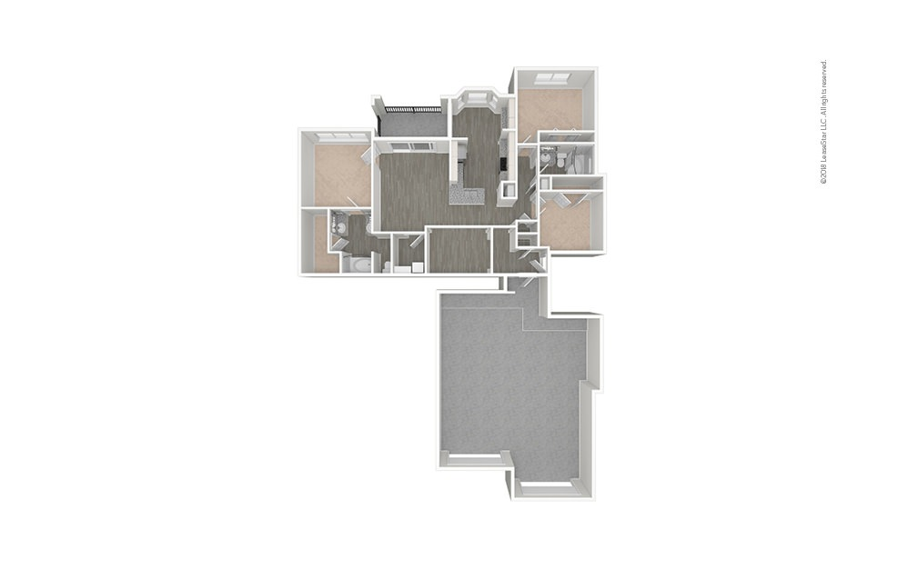 The Urban 3 bedroom 2 bath 1482 - 1552 square feet (1)