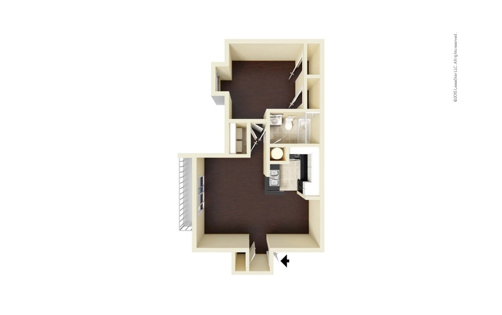Chantilly 1 bedroom 1 bath 724 square feet (1)