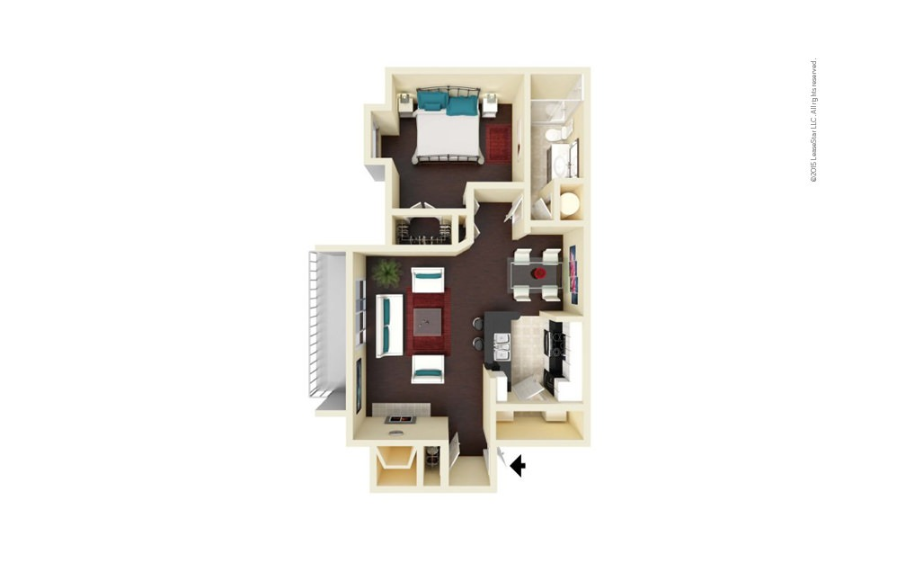 Elizabeth 1 bedroom 1 bath 796 square feet