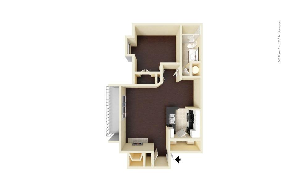 Elizabeth 1 bedroom 1 bath 796 square feet (1)