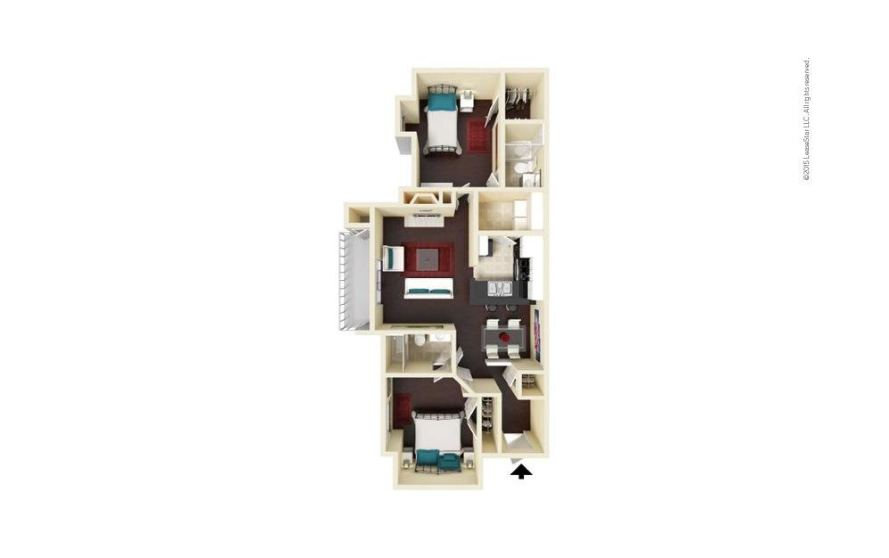 Matthews 2 bedroom 2 bath 1095 square feet