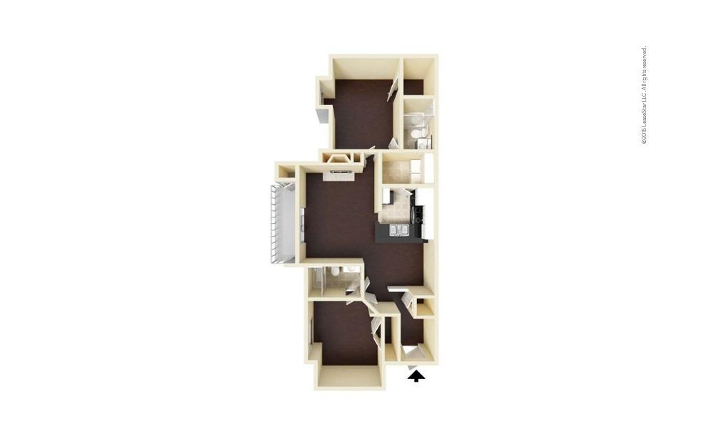 Matthews 2 bedroom 2 bath 1095 square feet (1)