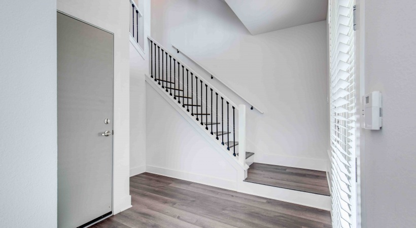 Stairway at our modern townhomes in Broomfield, CO