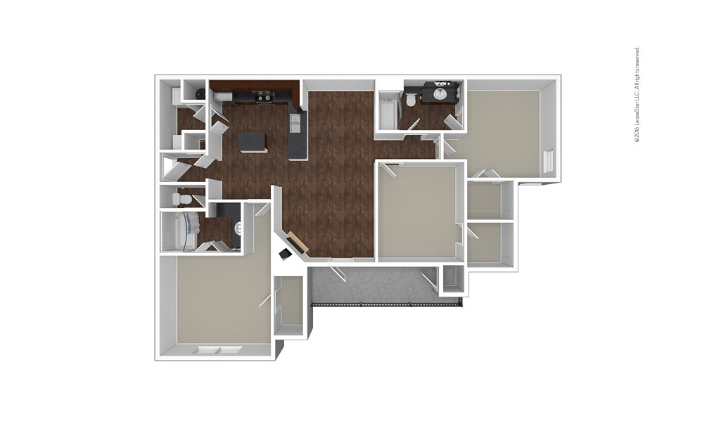 The Churchill Downs 3 bedroom 2 bath 1510 square feet (1)