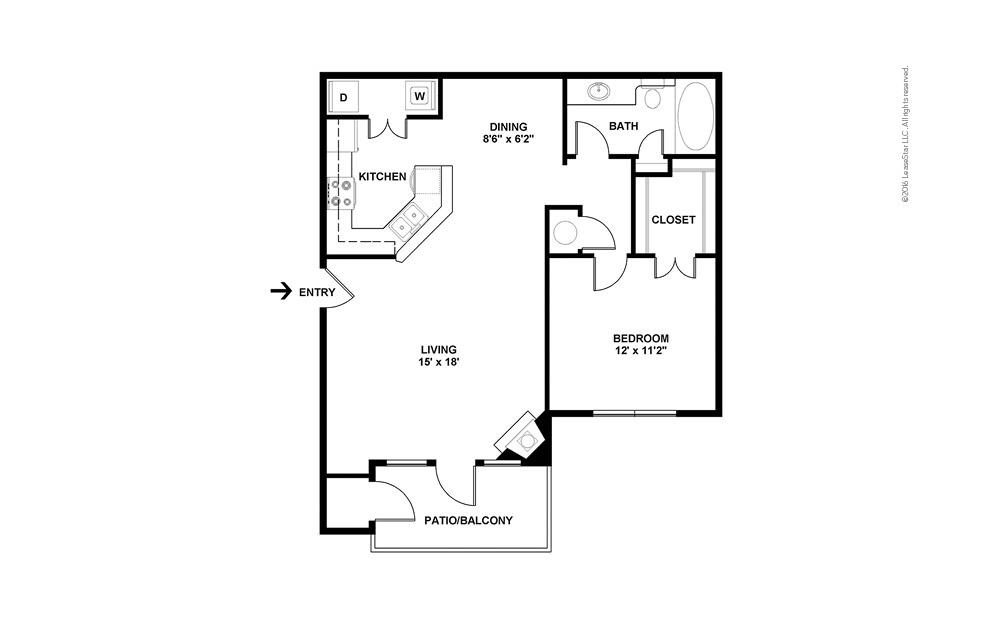 The Santa Anita 1 bedroom 1 bath 858 square feet (2)