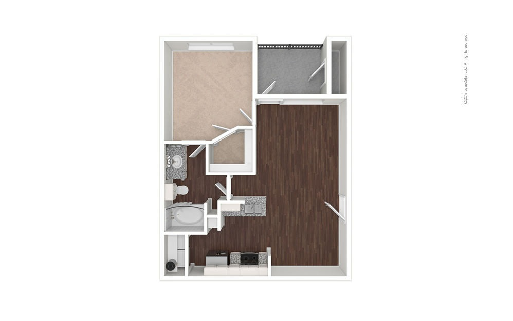 The Fossil 1 bedroom 1 bath 662 square feet (1)