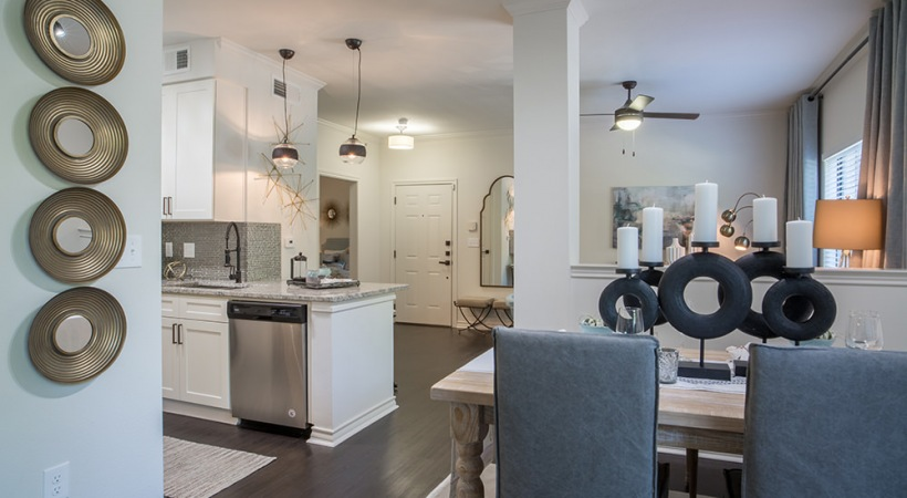 Spacious floor plan at apartments in North Fort Worth