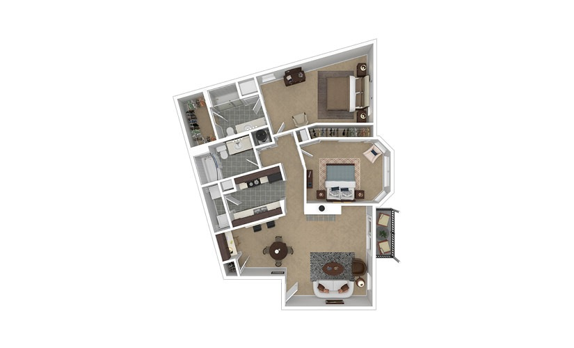 Apogee 2 bedroom 2 bath 1033 square feet