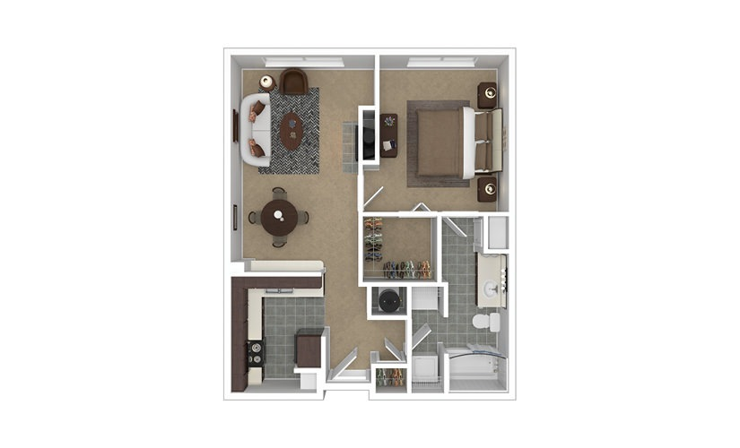 Citadel 1 bedroom 1 bath 702 - 745 square feet