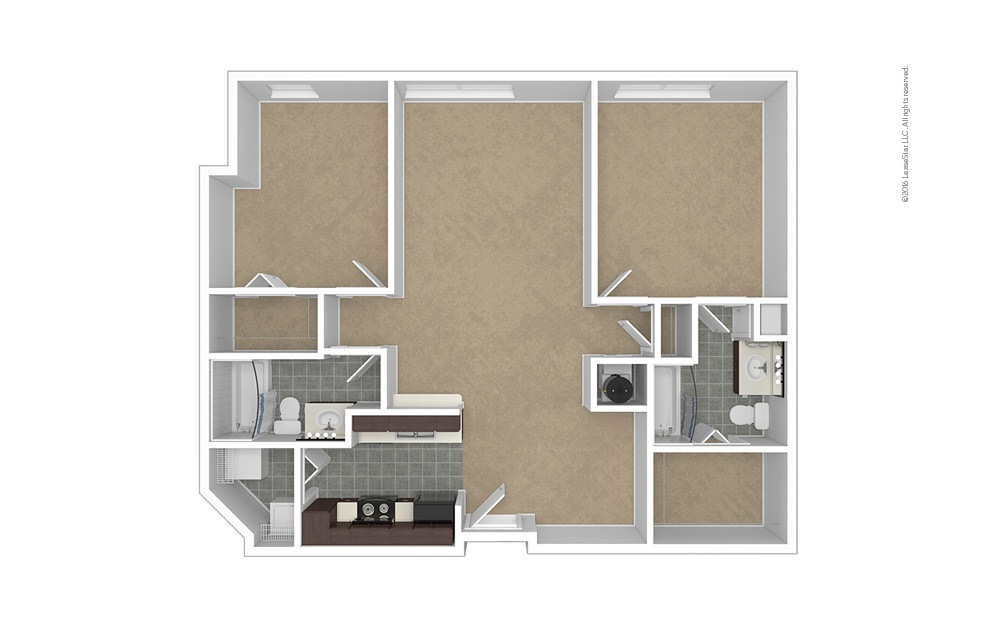Crest 2 bedroom 2 bath 1022 square feet (1)