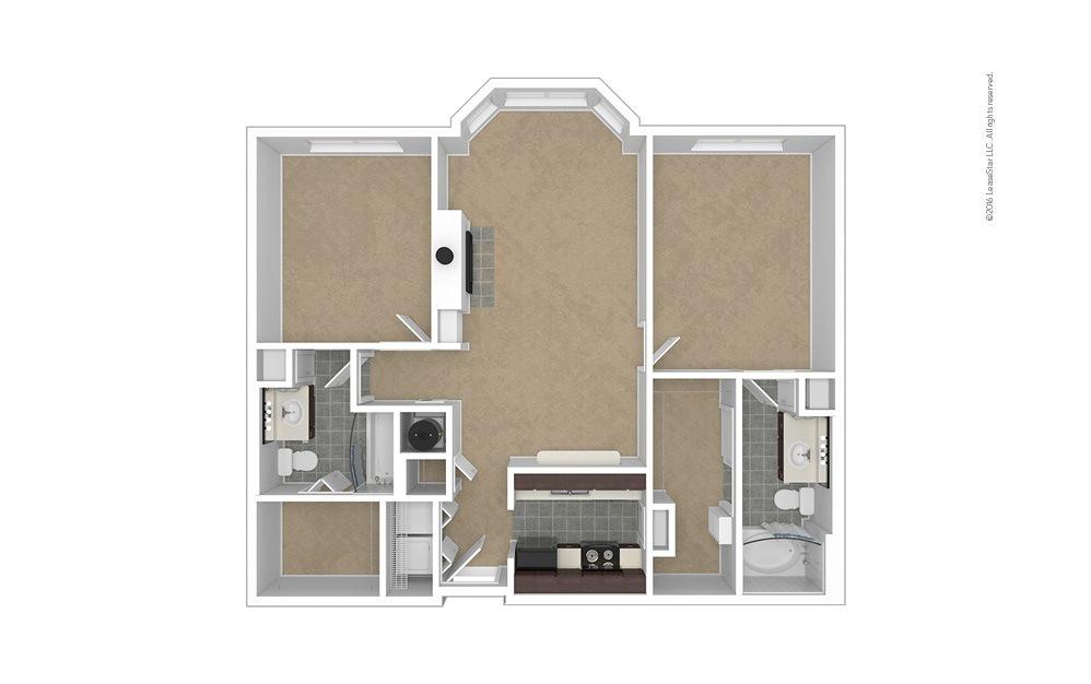 Crown 2 bedroom 2 bath 1060 - 1088 square feet (1)