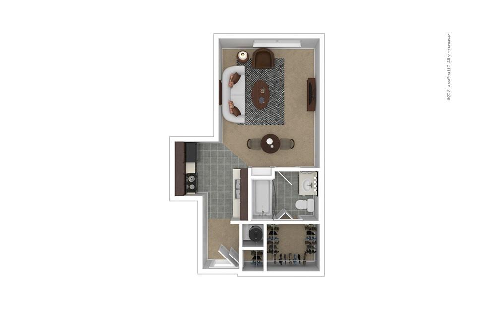 Distinction Studio 1 bath 420 square feet