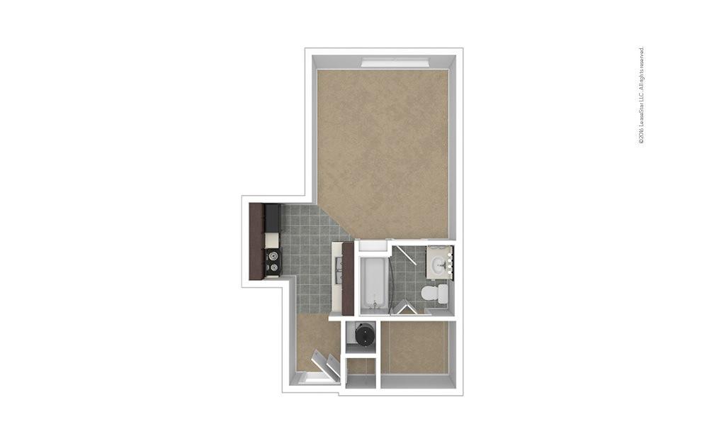 Distinction Studio 1 bath 420 square feet (1)