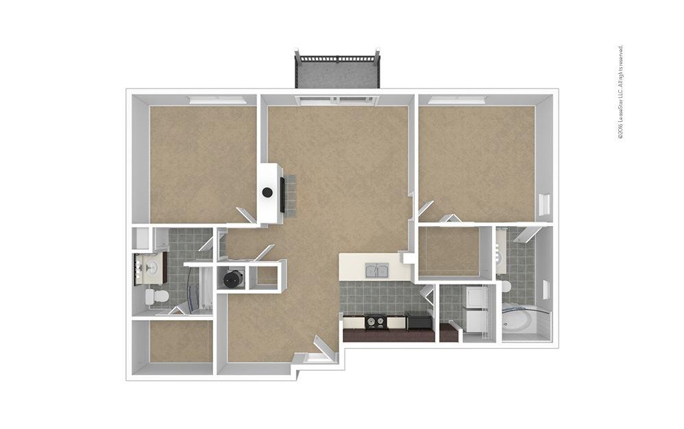 Peak 2 bedroom 2 bath 1168 square feet (1)